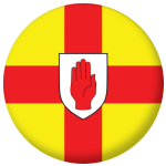 Ulster Province Flag 58mm Mirror Keyring